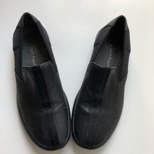 Hush Puppies black slip on shoes size 7.5 leather